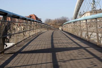 An empty pedestrian bridge