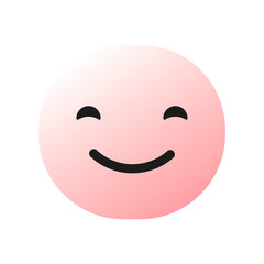 pink cheerful happy emoticon , emoji, smiley - vector illustration