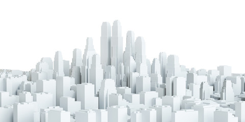White city downtown