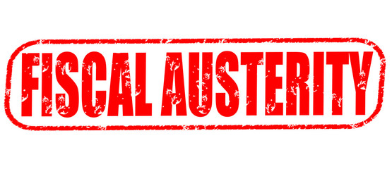 Fiscal austerity on the white background, red illustration Wall mural
