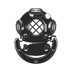Vintage style diver helmet