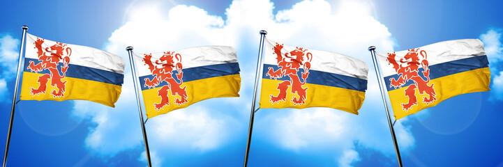 Limburg flag, 3D rendering