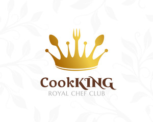 Cook king logo. Restaurant or cafe icon.