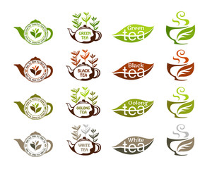 Tea types collection