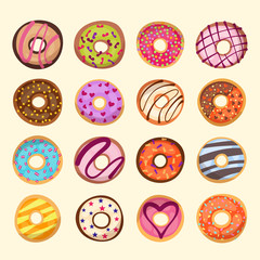 donut icon set