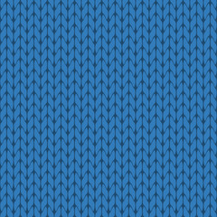 Knitted light blue background pattern vector isolated