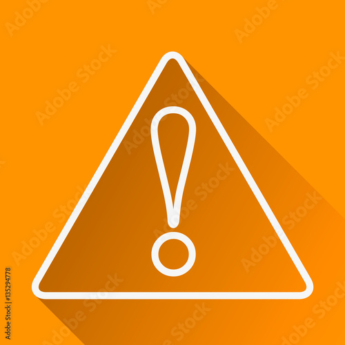 Generic Caution Hazard Warning Attention Sign With Exclamation Mark