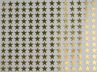 Gold star stickers background pattern