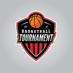 basketball tournament logo. modern sport emblem