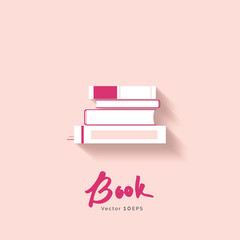 Stack of book vector icon