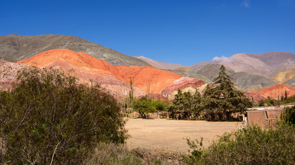 Hill of seven colours in Purmamarca (Argentina)