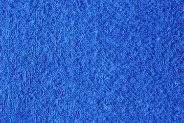 Texture of blue towel