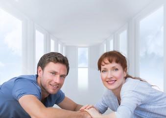 Digital composite of loving couple