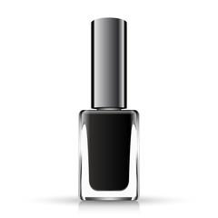 Black neil polish isolated on white, vector illustration