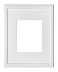 blank frame on a white background with clippinh path