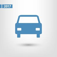 Car icon, vector illustration. Flat design style