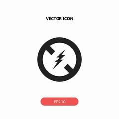 flash forbidden vector icon