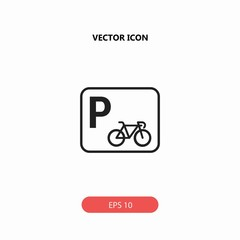 bicycle parking vector icon