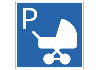 Schild Parkplatz für Kinderwagen