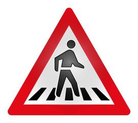 Cross Walk Traffic Sign, South Africa