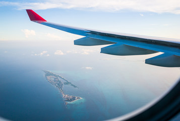 a flight to the caribbean