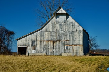 Rustic Barn Stands Tall on Lost Farm