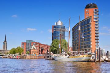 Skyline of Hamburg Port, Germany