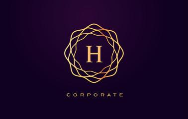 h Luxury Logo. Monogram Letter Design Vector