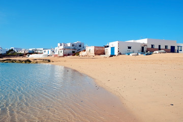 Caleta del Sebo in La Graciosa, Canary Islands, Spain