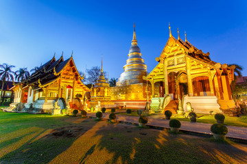 Foto op Plexiglas Temple Thailand landmark, Wat Phra Singh is located in the western part of the old city center of Chiang Mai, Thailand