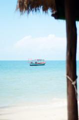 море, солнце, пляж, лето, цветы, лодка, красивый, жизнь, остров, волна