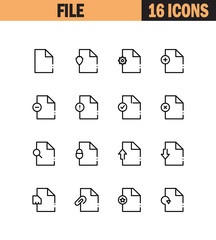 File flat icon set.