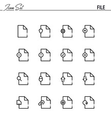 File flat icon set.