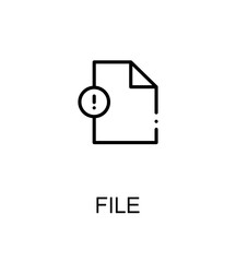 File flat icon
