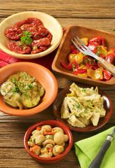 assorted pickled vegetables