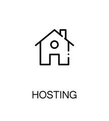 Hosting flat icon