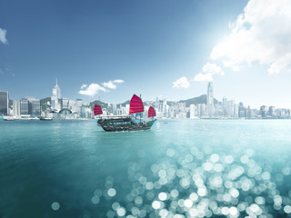 Wall Mural - Hong Kong and tilt shift effect