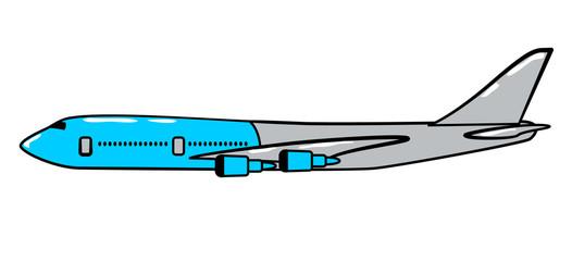 Airplane cartoon sticker in retro style