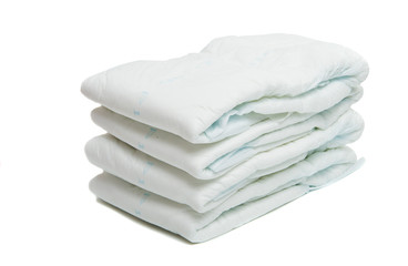 diapers isolated