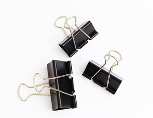 Black clips for paper