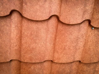 brown grain roof metal