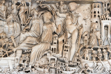 Old Roman Relief Wall mural