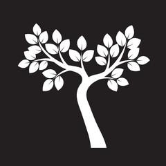 White Tree. Vector Illustration.