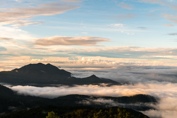 Sunrise at Doi Intanon National Park VIew point, Chiang Mai Thai