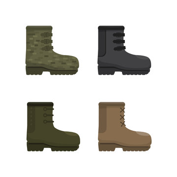 Boots icons. vector illustration.