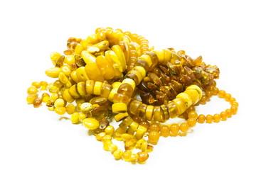 Orange amber jewelry
