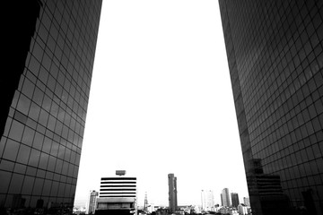 Monochrome Backgrounds of Modern architecture black and white