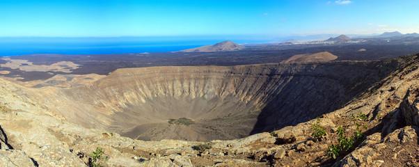 Volcanic boiler in Lanzarote island. Spain.