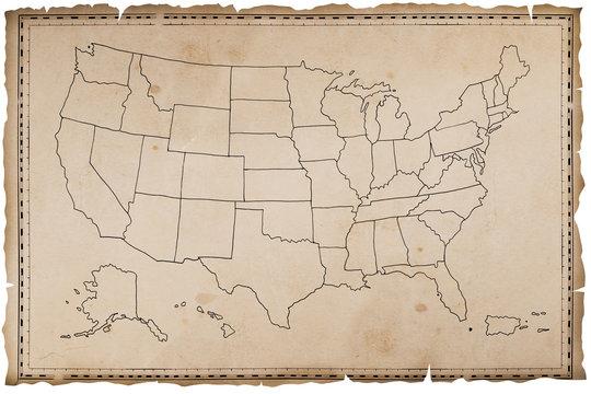 Stara mapa USA