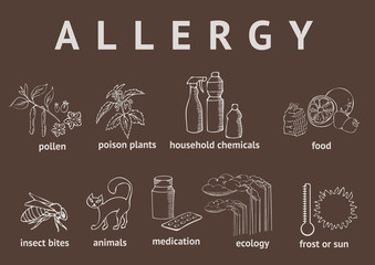 Types of allergies. Outline